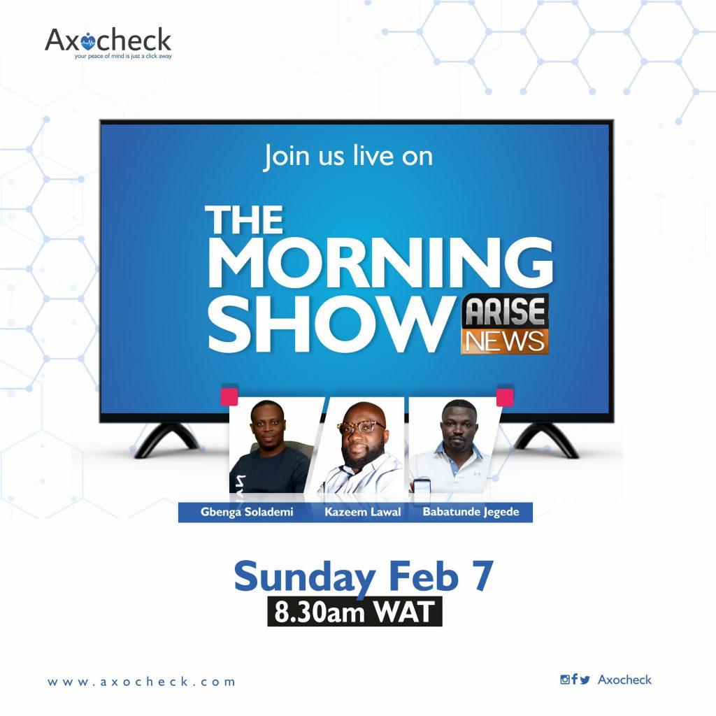 Axocheck live on tv