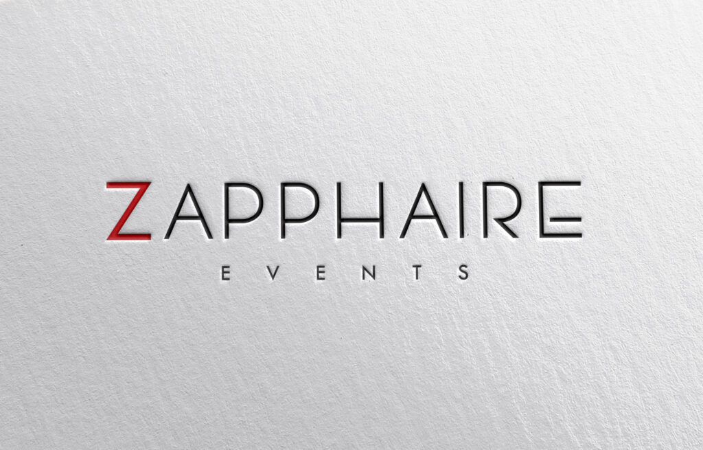 Zapphaire logo mockup